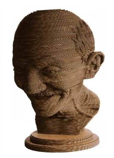 Gandhi Sculpture - Cardboard
