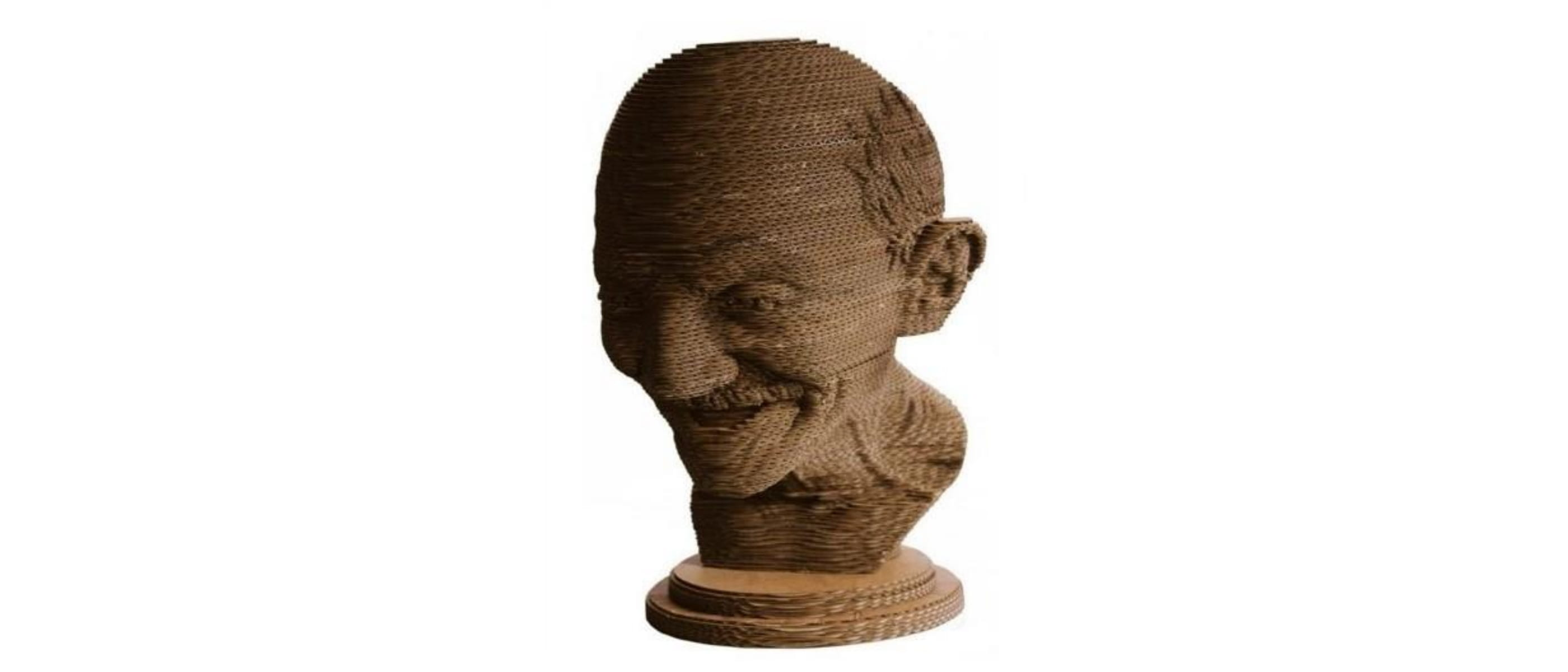Gandhi Sculpture - Cardboard - For Raymond